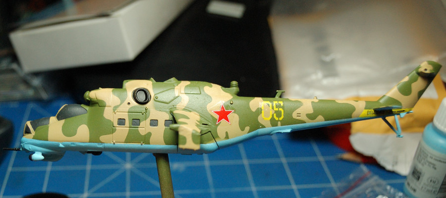Decals are the final step before washes are applied.